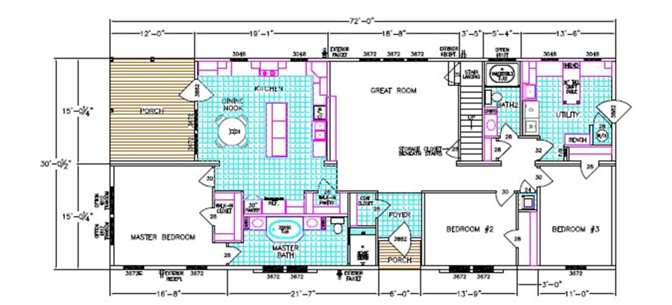Alexander Dimensioned Floorplan