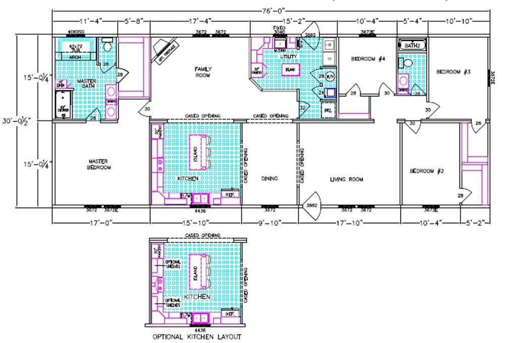 Andrew Dimensioned Floorplan