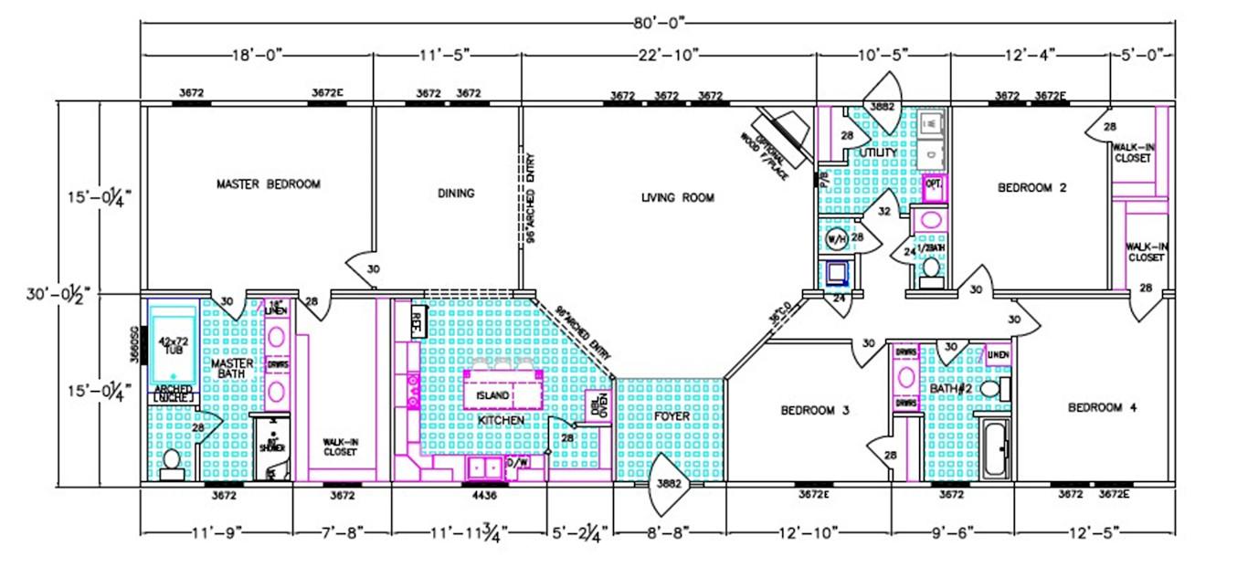 Calhoun Dimensioned Floorplan