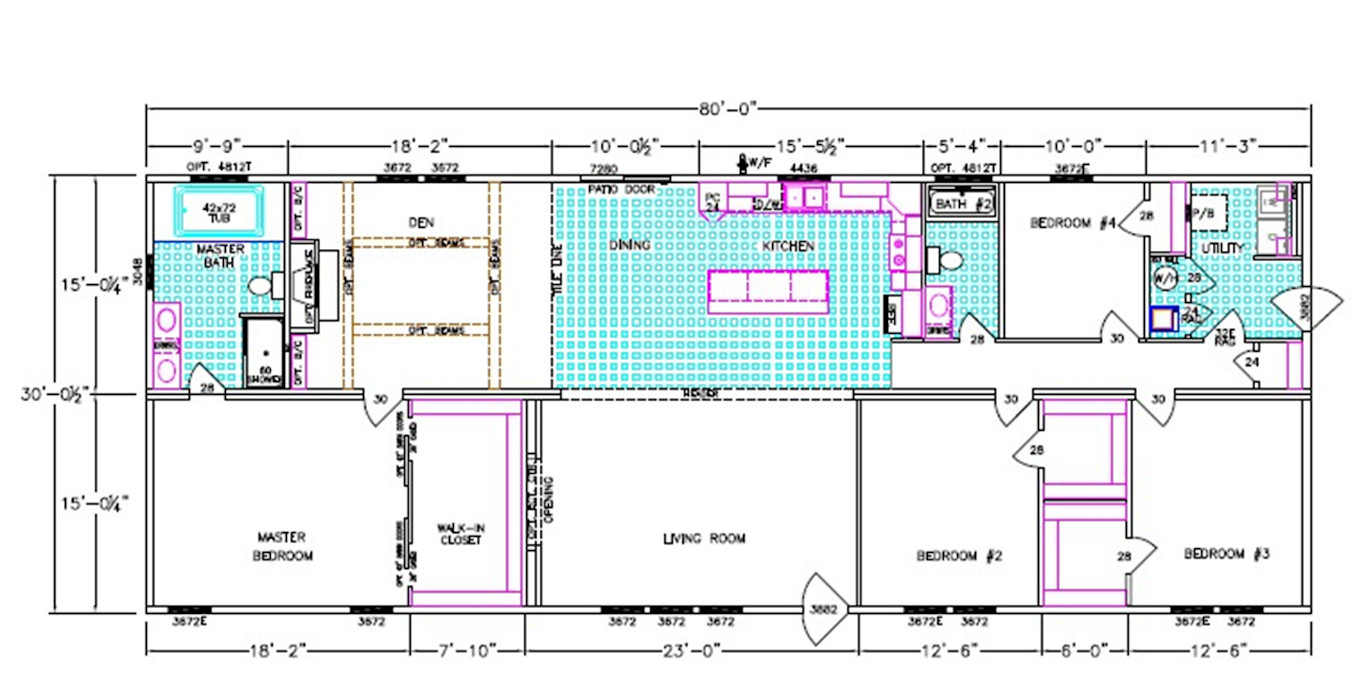 Cypress Bend Dimensioned Floorplan
