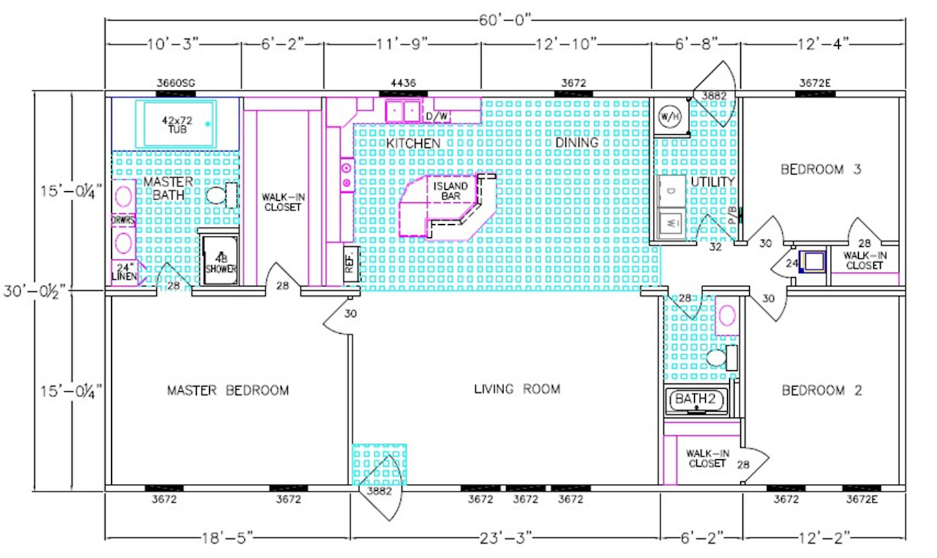 Independence Dimensioned Floorplan