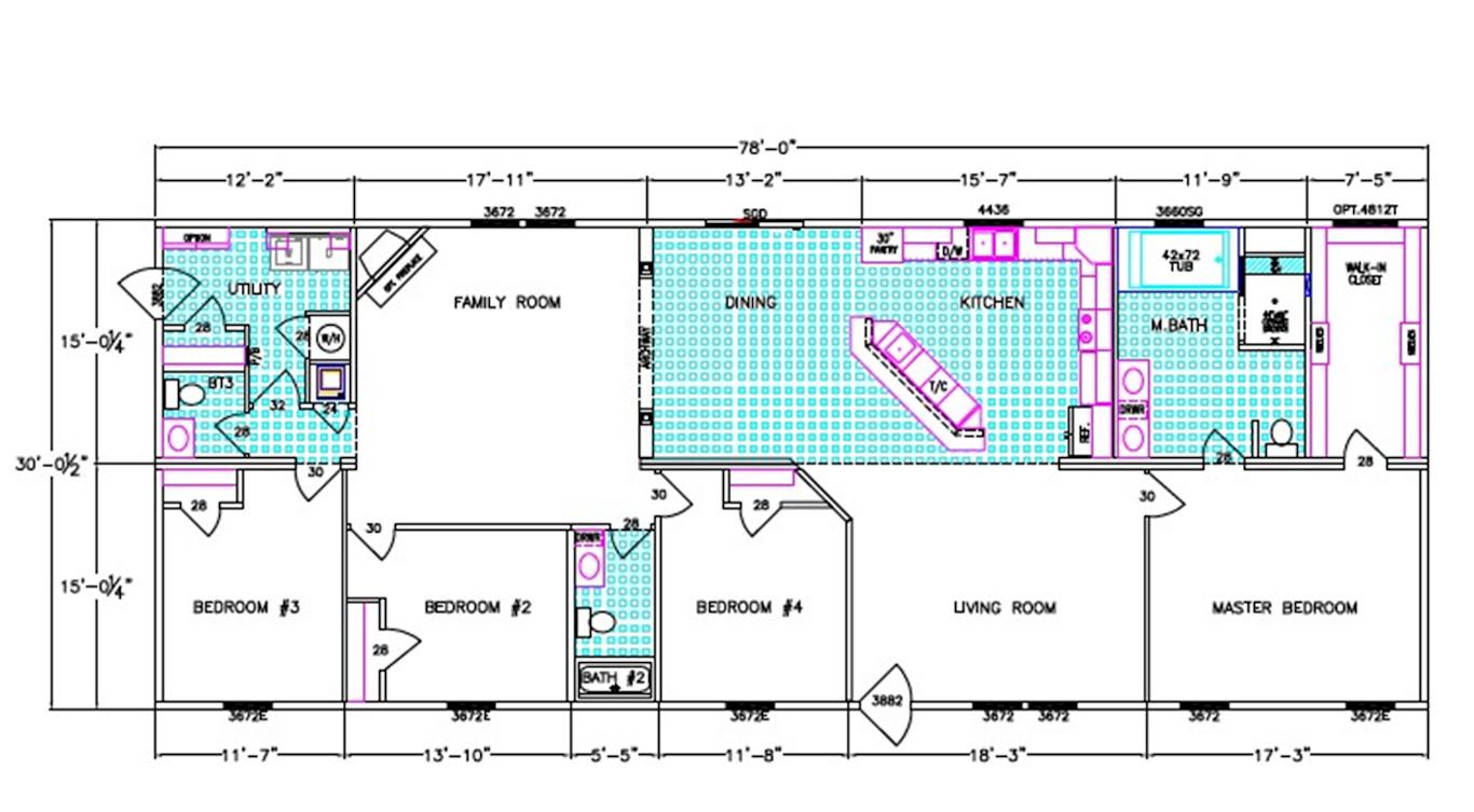 Laurel Dimensioned Floorplan