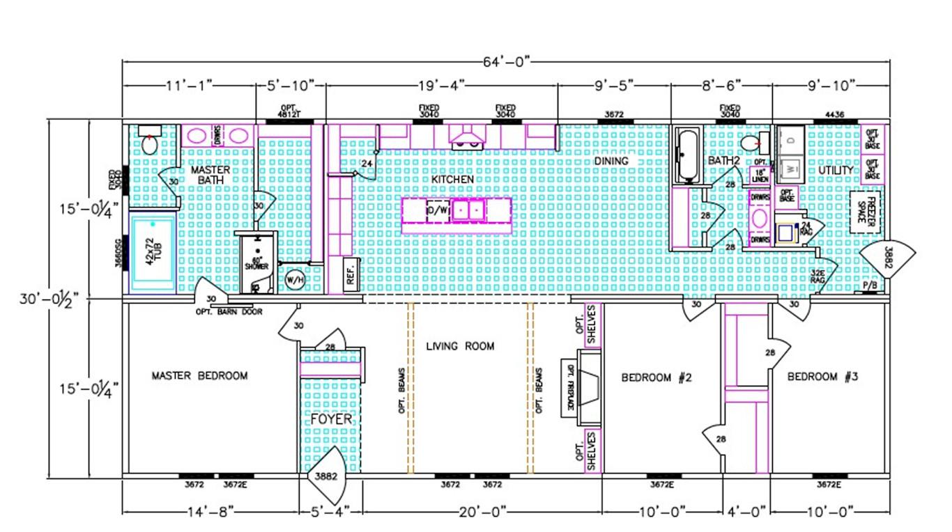 Lincoln Dimensioned Floorplan