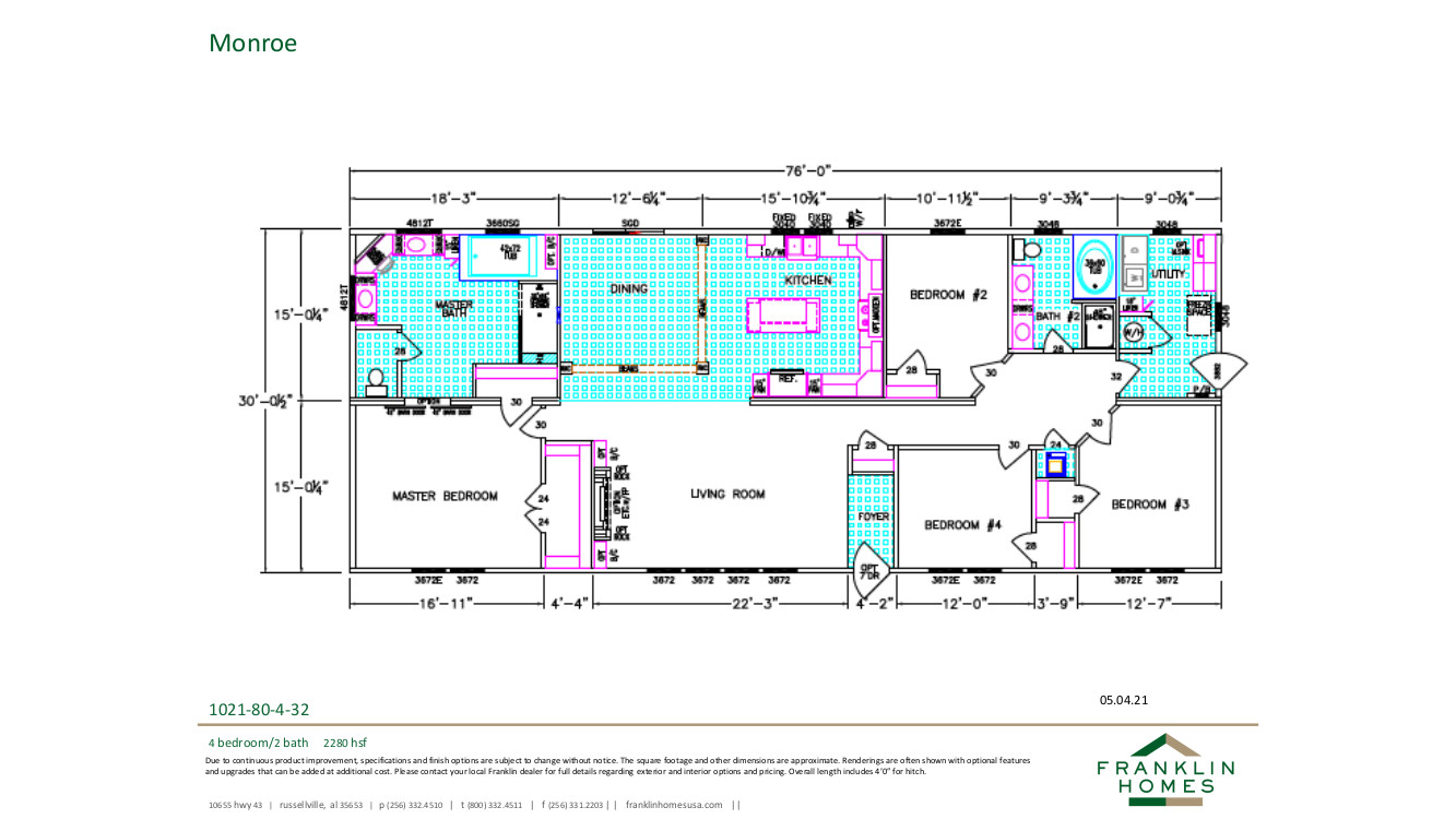 Monroe Floorplan