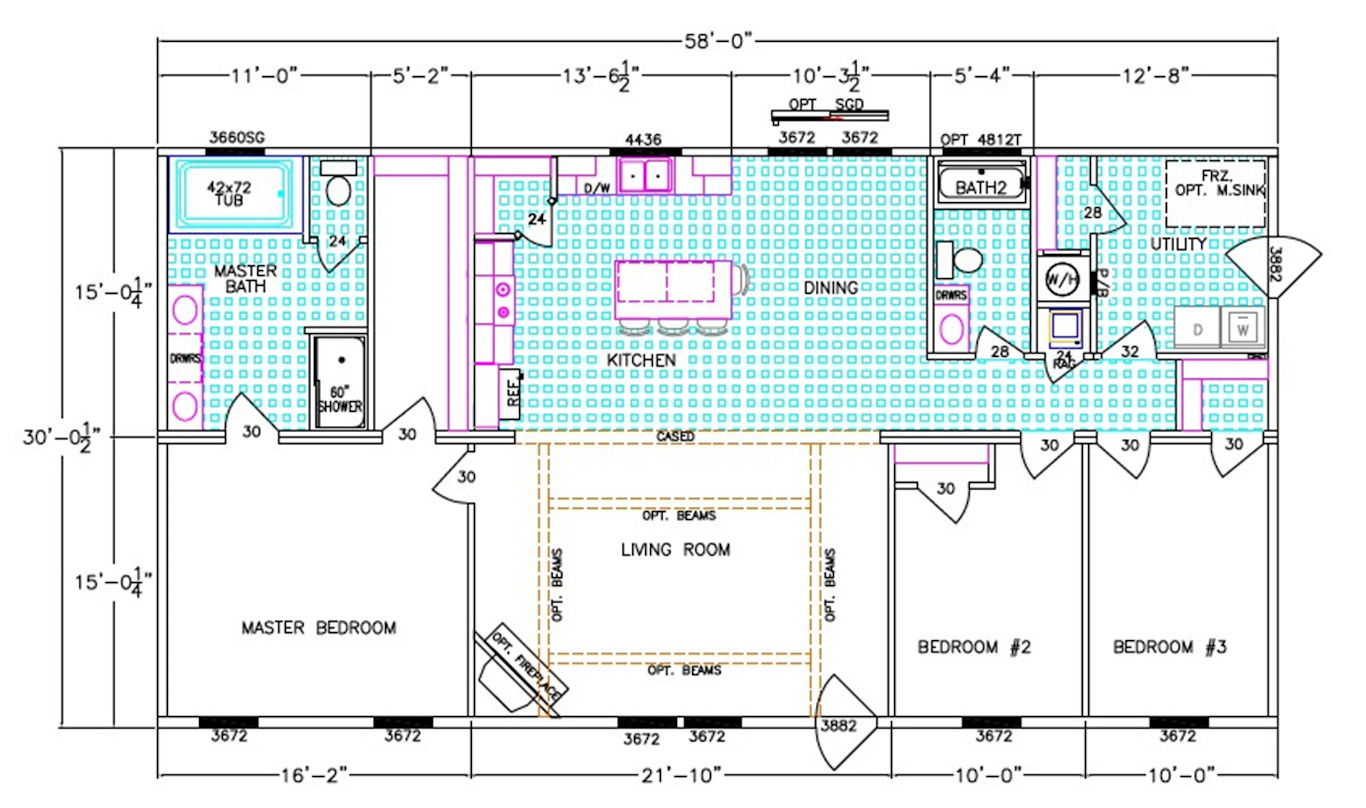 The Ace Dimensioned Floorplan