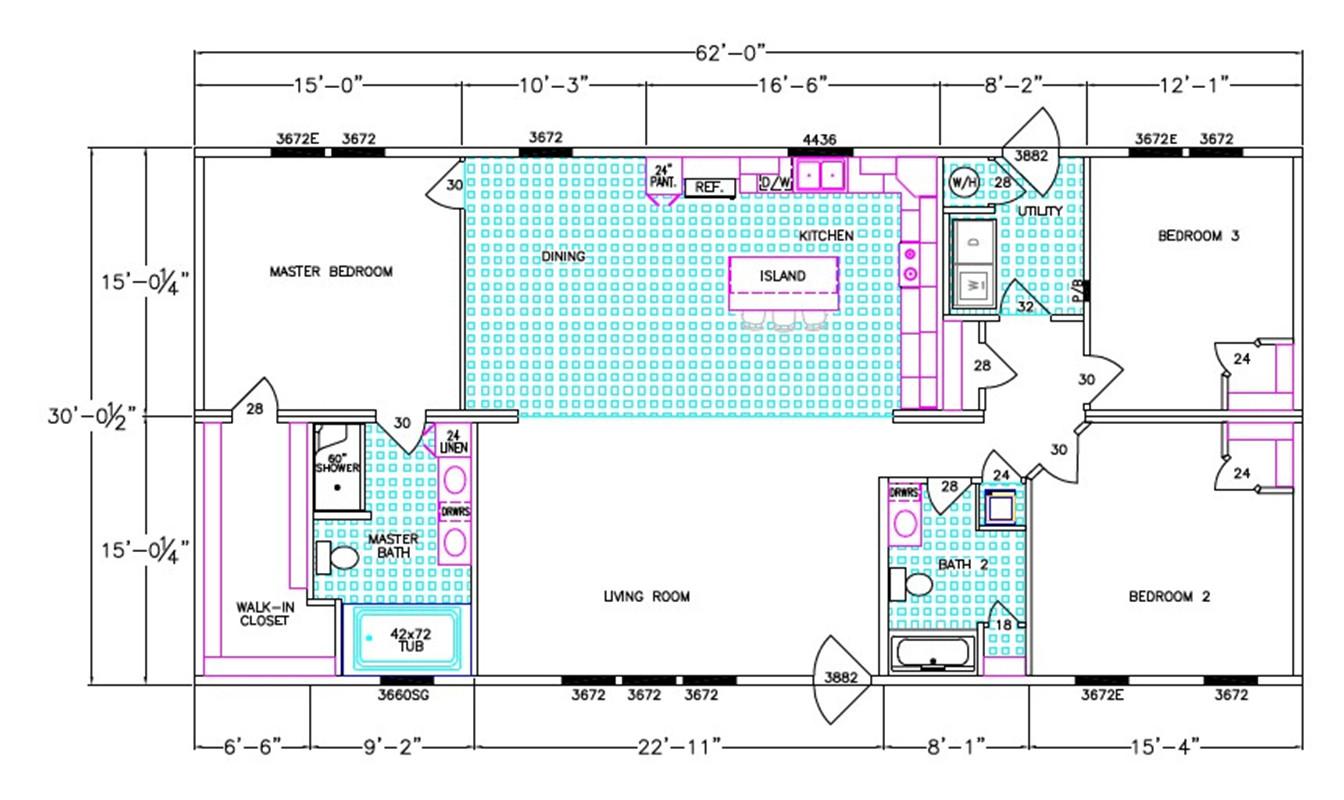 The Henley Dimensioned Floorplan
