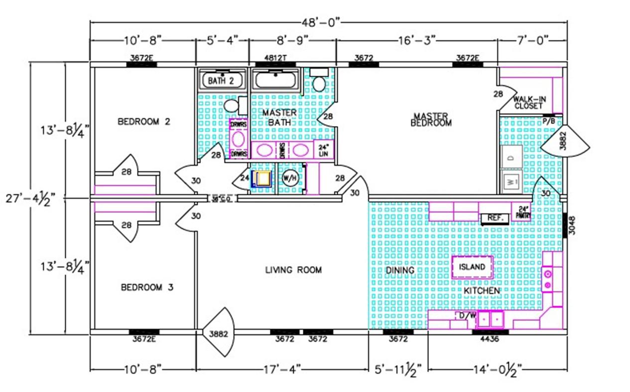Warren Dimensioned Floorplan
