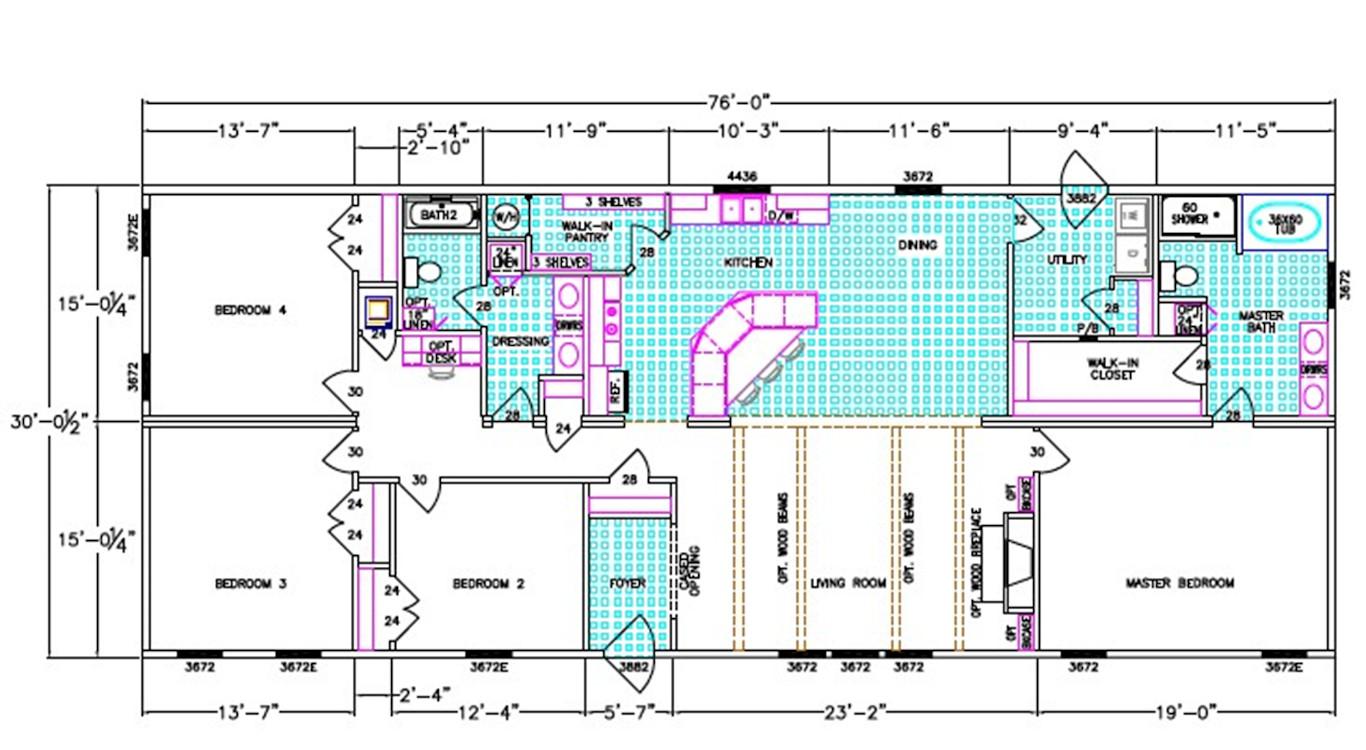 Webster Dimensioned Floorplan