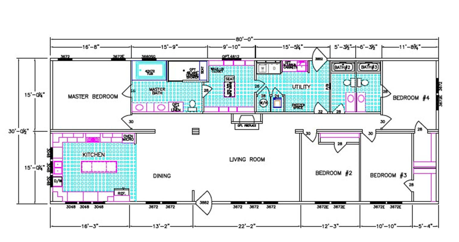 Woodland Dimensioned Floorplan