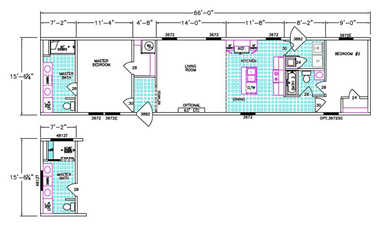 Houston Dimensioned Floorplan