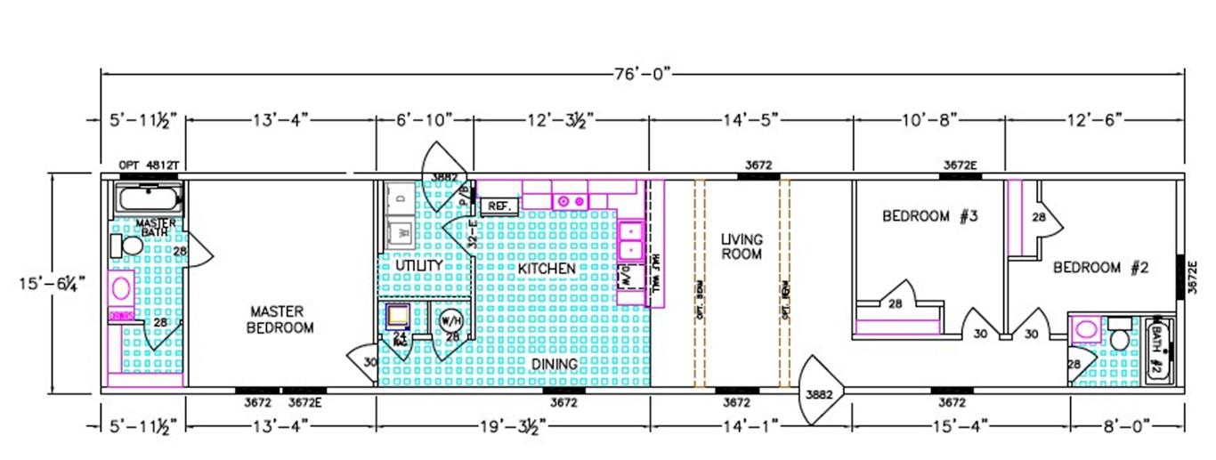 Huff Dimensioned Floorplan