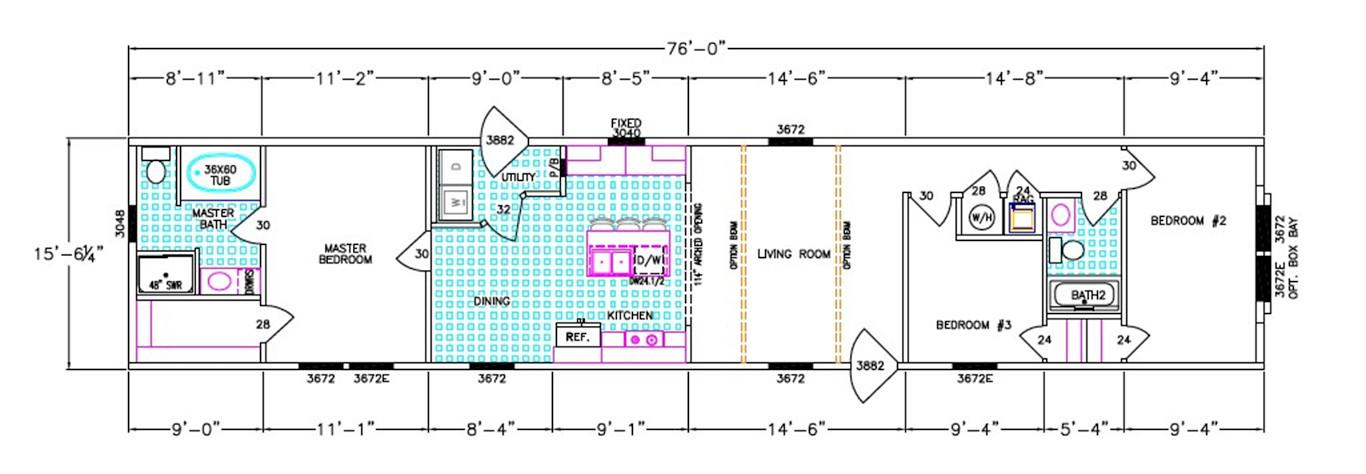 Mei Dimensioned Floorplan
