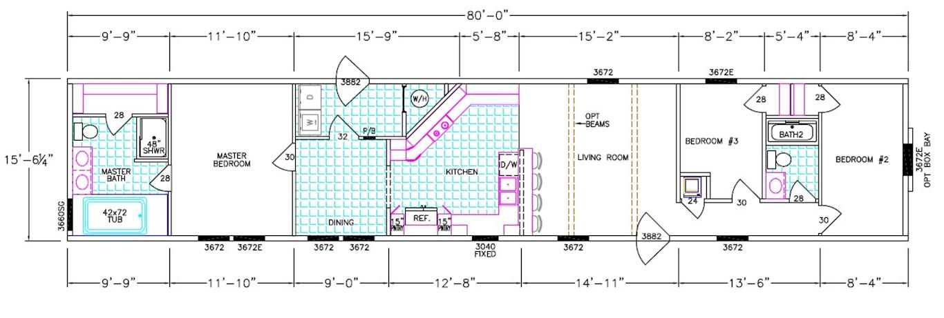 Robertson Dimensioned Floorplan