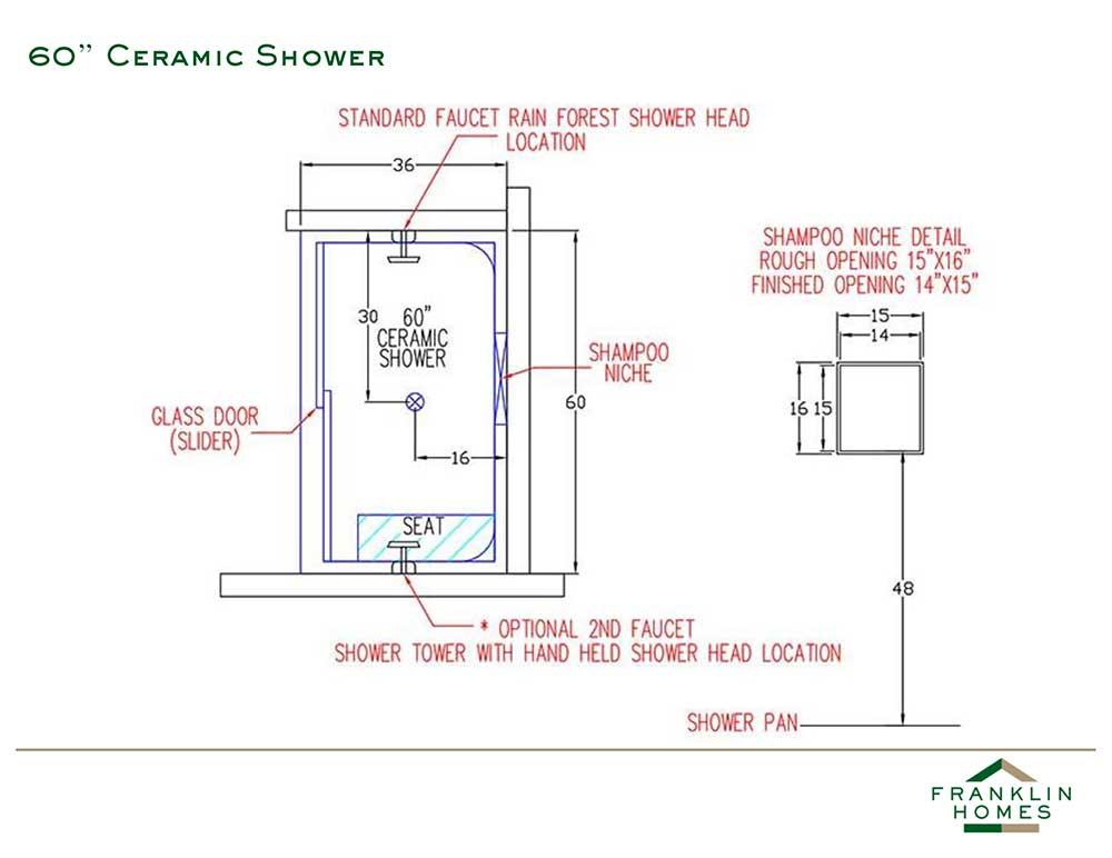 Ceramic Shower - 60 Inch