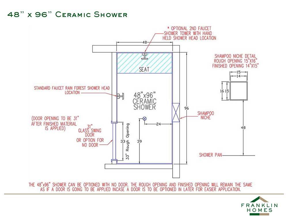Ceramic Shower - 96 Inch