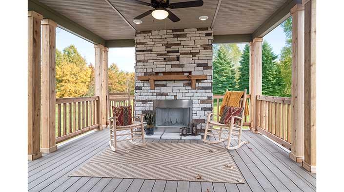 Texas-Blend Stone Fireplace