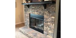 Mesa Valley Half Stackstone Fireplace