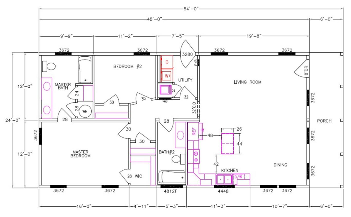 8030-58-2-26 Dimensioned Floorplan