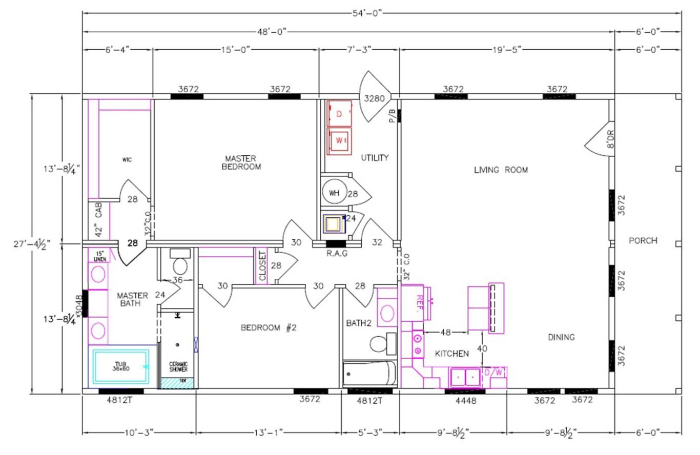 8020-58-2-30 Dimensioned Floorplan