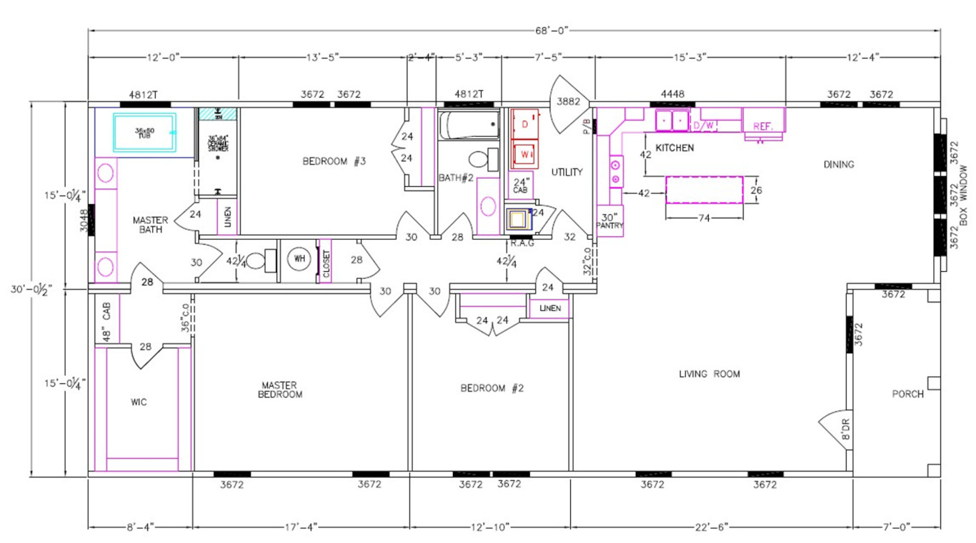 Walton Dimensioned Floorplan