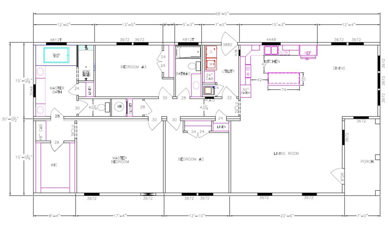 Bradford Dimensioned Floorplan