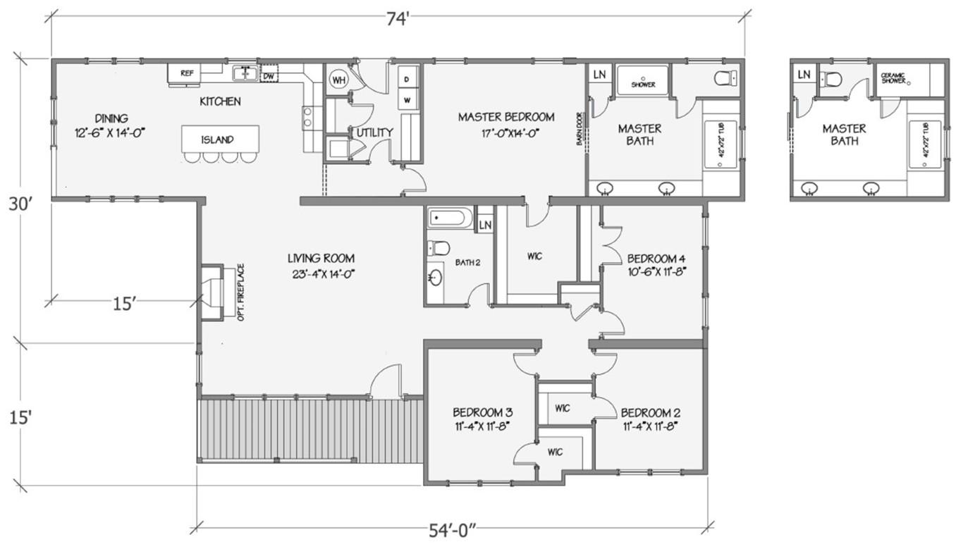Jasmine II Rendered Floorplan