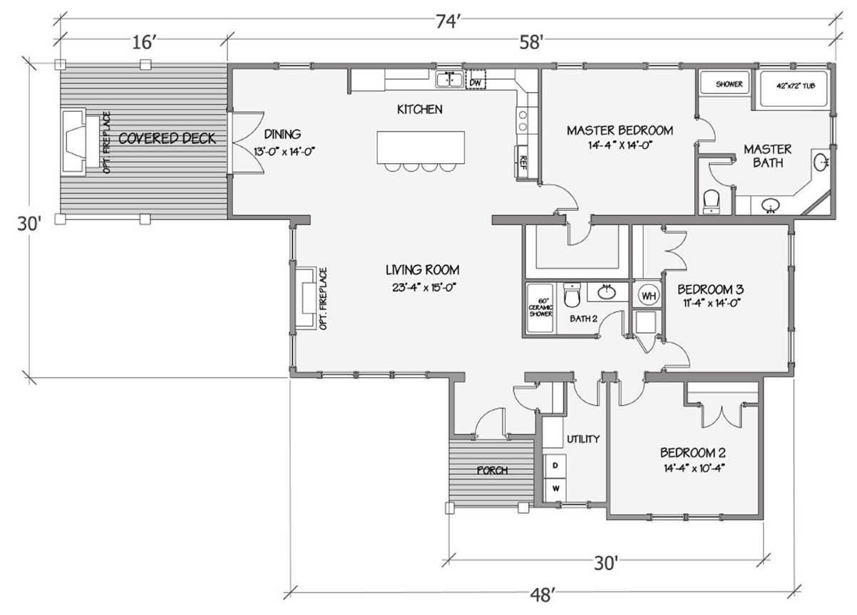 Nandina I Rendered Floorplan