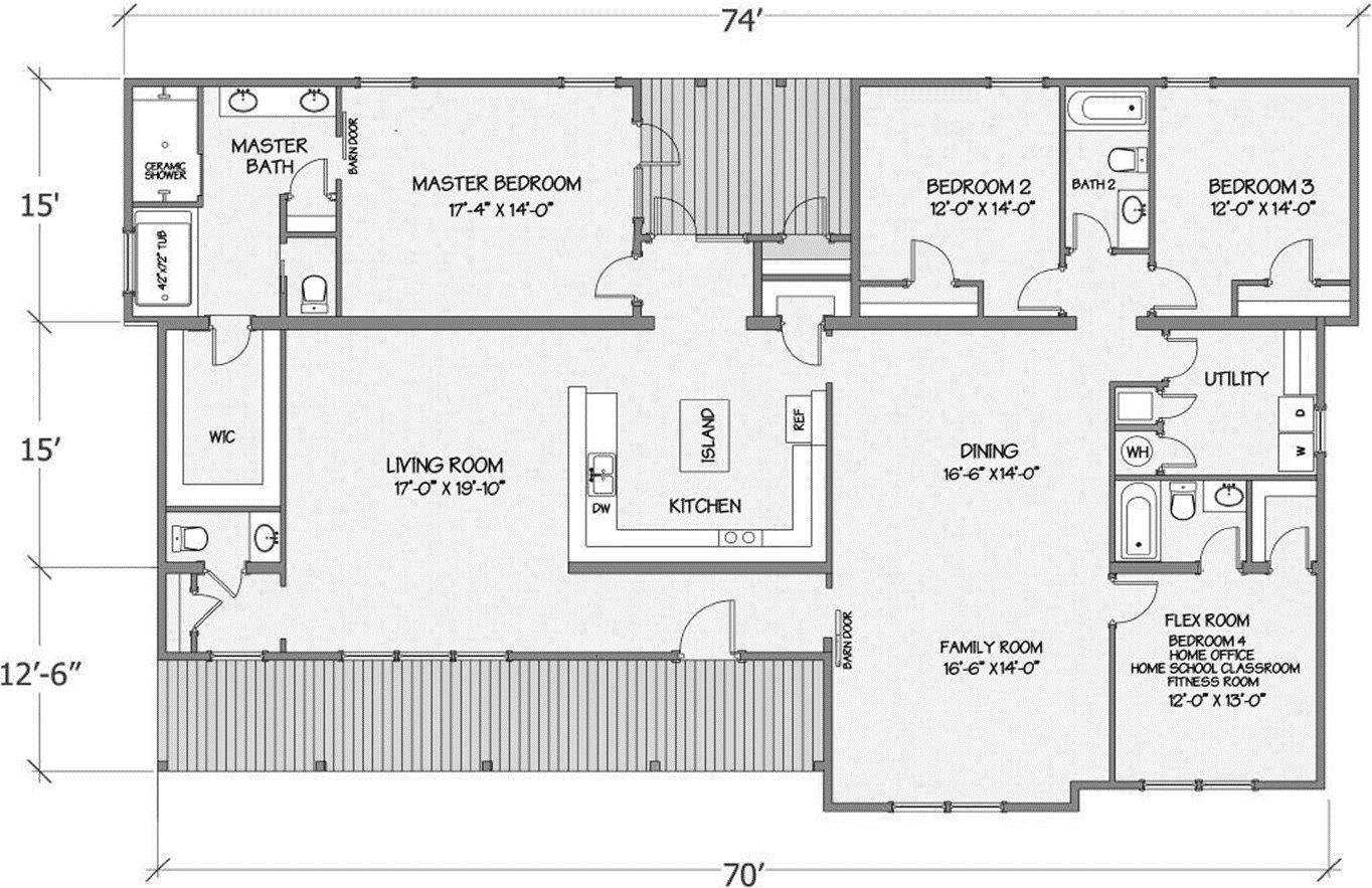 Cypress Lake II Rendered Floorplan