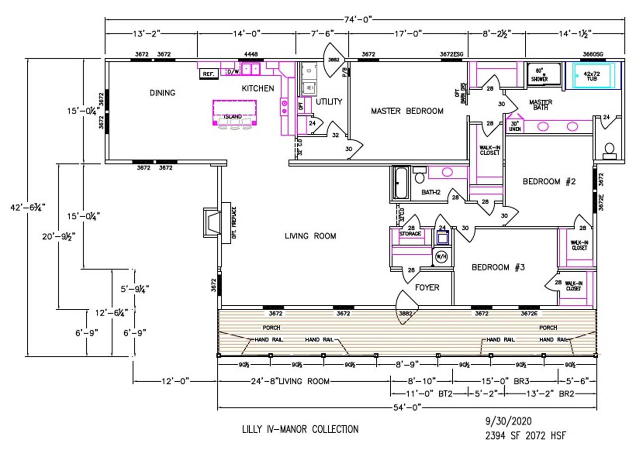 Lilly IV Dimensioned Floorplan