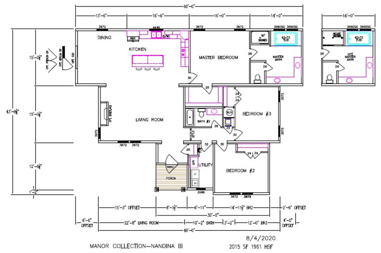 Nandina III Dimensioned Floorplan